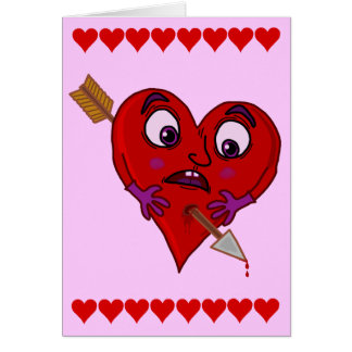 Het Hart van grappig Valentijn met Pijl Wenskaart