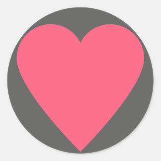 het Hart van het 52 kaartdek Ronde Sticker