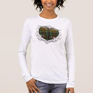 Het Hart van het Geruite Schotse wollen stof van T Shirts