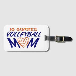 Het hart van het Mamma van het volleyball Kofferlabel