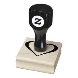Het Hart van het monogram Rubberenstempel