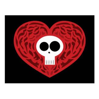 Het Hart van het Tattoo van de schedel Briefkaart