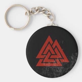 Het Hart van Hrungnir (rode & zwarte grunge) Sleutelhanger