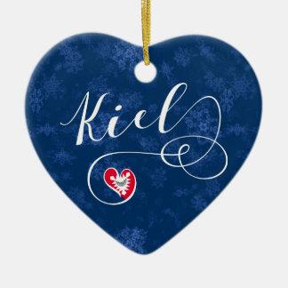Het Hart van Kiel, het Ornament van de Kerstboom,
