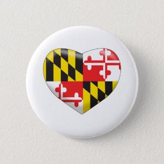 Het Hart van Maryland Ronde Button 5,7 Cm