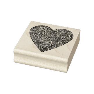 Het Hart van Scribbleprints Rubberenstempel