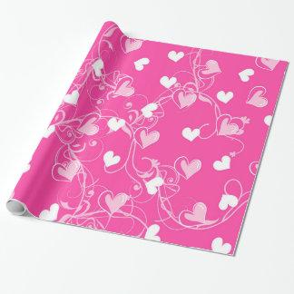 Het hart vormde Pinks Inpakpapier