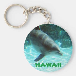 Het Hawaiiaanse collectie van de Dolfijn Basic Ronde Button Sleutelhanger