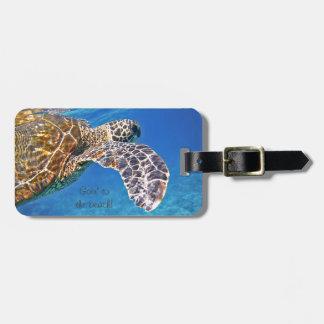 Het Hawaiiaanse de schildpad van het Zee zwemmen Kofferlabels