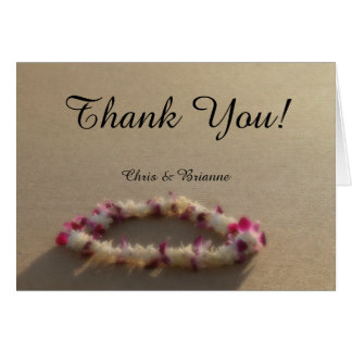 Het Hawaiiaanse Huwelijk van het Strand Lei dankt Kaart