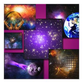 Het heelal foto afdruk