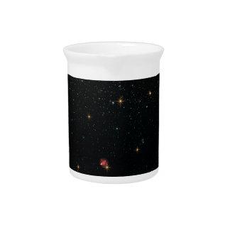 Het heelal met Veelkleurige Sterren Limonade Pitcher