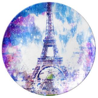 Het Heelal Parijs van de regenboog Porseleinen Borden