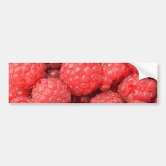 Het heerlijke patroon van het frambozenvoedsel bumpersticker