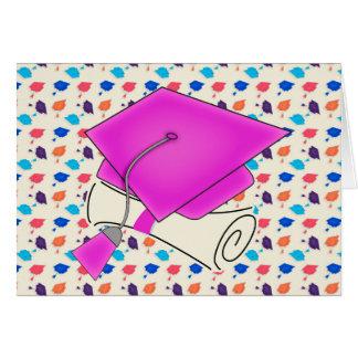 Het heet Roze Pet van Afstuderen en Diploma, Wenskaart