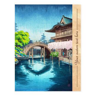 Het Heiligdom van Koitsu Kameido Tenmangu van Briefkaart