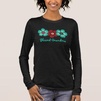 Het heilige Overhemd van de Oma - Blauwgroen Rood T Shirts