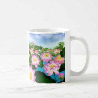 Het heilige Plant van Lotus Koffiemok