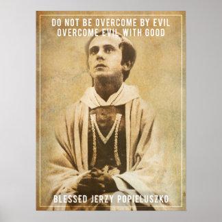 Het heilige Poster van Jerzy Popiełuszko