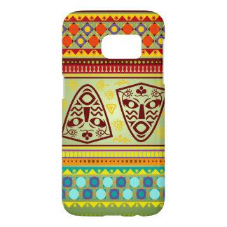 Het heldere Afrikaanse StammenPatroon van het Samsung Galaxy S7 Hoesje