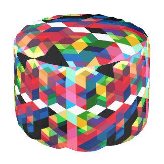 Het heldere Geometrische Patroon van de Diamant Poef