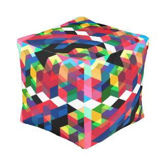 Het heldere Geometrische Patroon van de Diamant Vierkante Poef