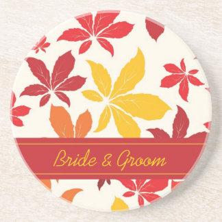 Het heldere Huwelijk van de Bladeren van de Herfst Zandsteen Onderzetter