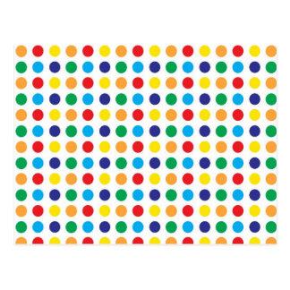Het heldere Kleurrijke Patroon van Girly van de Briefkaart