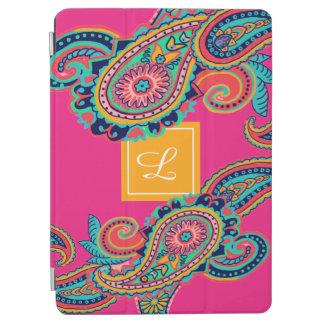 Het heldere Monogram van Paisley van de Regenboog iPad Air Cover