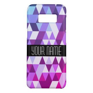 Het heldere Paarse Blauwe Geometrische Patroon van Case-Mate Samsung Galaxy S8 Hoesje