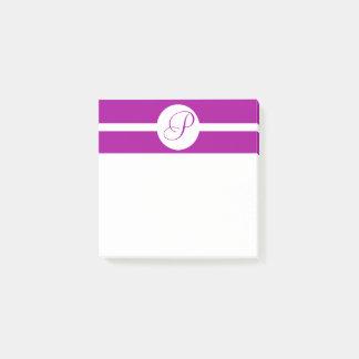 Het heldere Paarse Monogram van de Cirkel Post-it® Notes