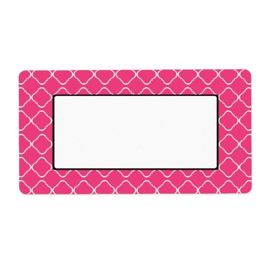 Het heldere Roze Etiket/het Label van het Latwerk