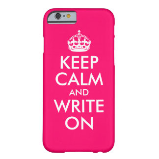 Het heldere Roze houdt Kalm en schrijft Barely There iPhone 6 Hoesje