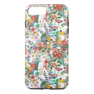 Het heldere VectorPatroon van Bloemen iPhone 7 Plus Hoesje