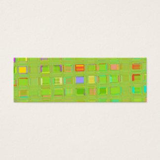 Het heldergroene Digitale Art. van de douane van Mini Visitekaartjes