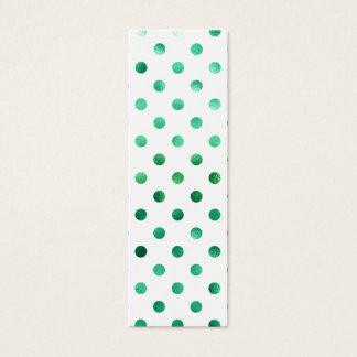 Het heldergroene MetaalWit van de Stip van de Mini Visitekaartjes