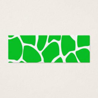 Het heldergroene Patroon van de Druk van de Giraf Mini Visitekaartjes