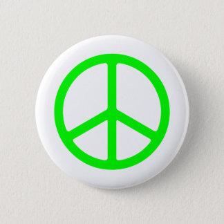 Het heldergroene Teken van de Vrede Ronde Button 5,7 Cm