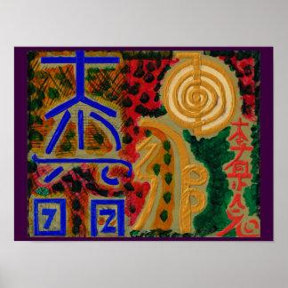 Het Helen REIKI Karuna de Symbolen van de Meester Poster