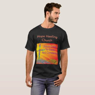 Het Helen van de hoop de Christelijke Zwarte T Shirt