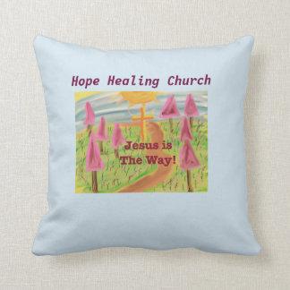 Het Helen van de hoop de Kerk Jesus de Manier Sierkussen