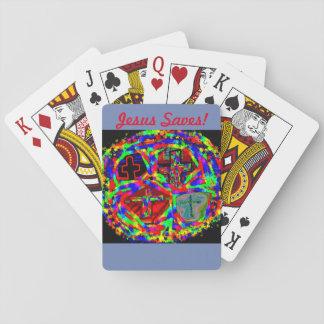 Het Helen van de hoop de Saves van de Kerk Pokerkaarten