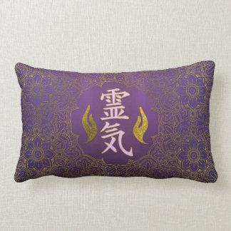 Het Helen van Reiki Symbolen met lotusbloem op Lumbar Kussen