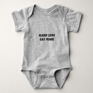 """Het hemd """"Slaap van het baby eet minder meer"""""""