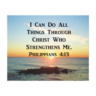 HET HEMELSE PHILIPPIANS VERS VAN DE 4:13BIJBEL CANVAS PRINT