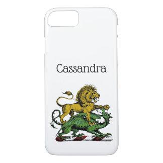 Het heraldische Embleem van CREST van de Leeuw en iPhone 8/7 Hoesje