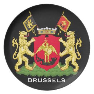 Het HerdenkingsBord van Brussel België Melamine+bord