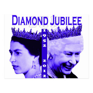 Het herdenkingsbriefkaart van het diamanten briefkaart