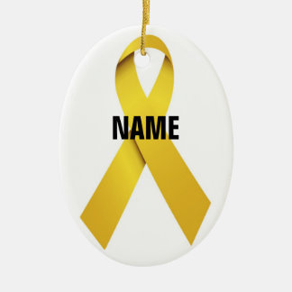 Het HerdenkingsLint van de zelfmoord Keramisch Ovaal Ornament