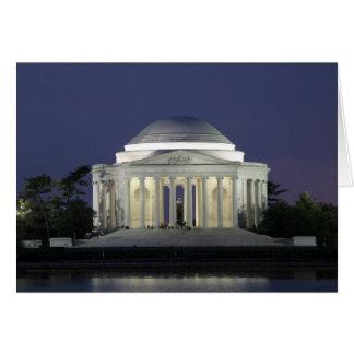 Het HerdenkingsWenskaart van Jefferson Kaart